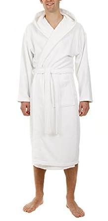 John Christian - Peignoir à capuche en éponge - Blanc - 100% Coton (XL)