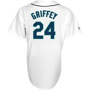 MLB Men's Seattle Mariners 24 Ken Griffey Jersey, White, X-Large at Amazon.com