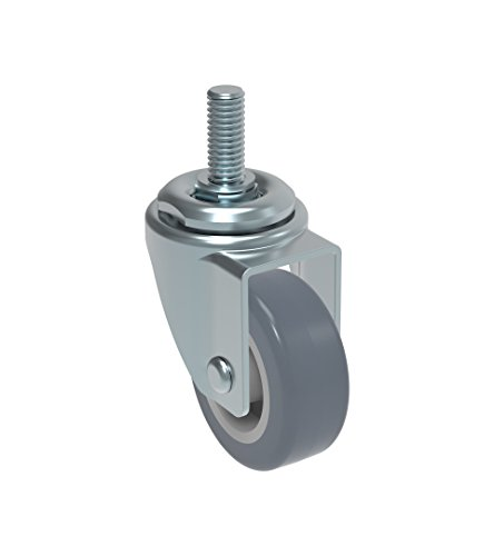 Schioppa L10 Series, GLEFF 210 BP, Swivel Caster, 2″ (50 mm) Non-Marking Thermoplastic PVC Wheel, 70 lbs, 10 mm Diameter x 40 mm Length Threaded Stem