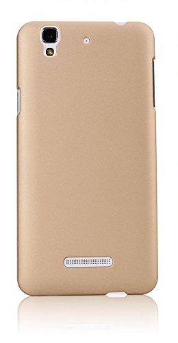WOW Imagine(TM) Rubberised Matte Hard Case Back Cover For Micromax YU Yureka / Yureka Plus (Champagne Gold)