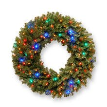 National Tree Nf-309L-36W-1 Norwood Fir Wreath With 100 Concave Multi 4-Color Led Lights, 36-Inch