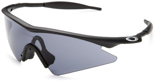 Oakley Men's M Frame Sweep Sunglasses,Matte Black Frame/Grey Lens,one size