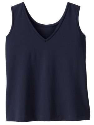 TravelSmith Womens Jet Set Knit Convertible Neckline Tank