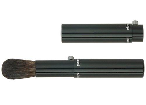 広島熊野筆 携帯チークブラシ 毛質 灰リス ポニー