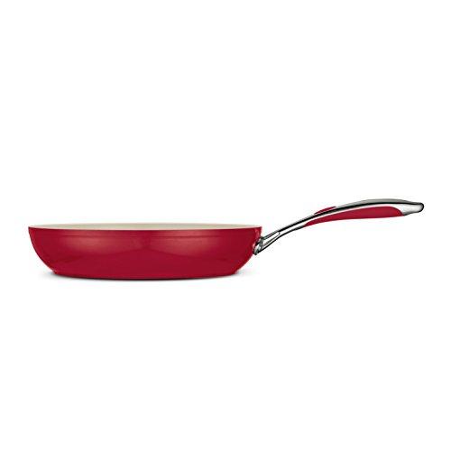Tramontina 80110/058Ds Gourmet Ceramica 01 Deluxe Fry Pan, 12-Inch, Metallic Red