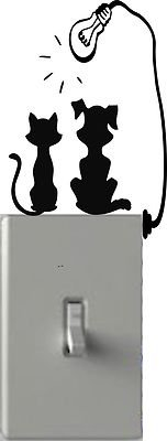 Dog & Cat Tanning - Light Switch Decals - Custom Vinyl Wall Art - Made In USA color black
