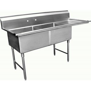Allstrong 2 Compartment Stainless Steel Sink 18 x 18x 12D W/ 18 Right Drainboard NSF. SE18182R she hulk volume 1 law and disorder