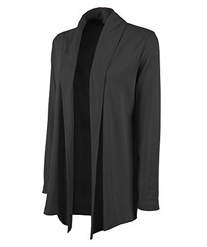 Charles River Apparel Women's Cardigan Wrap, Black, X-Large
