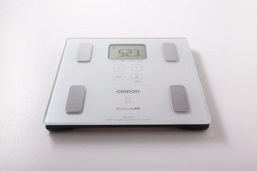 オムロン 体重体組成計 カラダスキャン HBF-215F-W ホワイト【ウェルネスリンク対応】