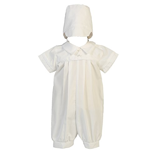 Lito Baby Boys White Cotton Romper Christening Easter Outfit 0-18M