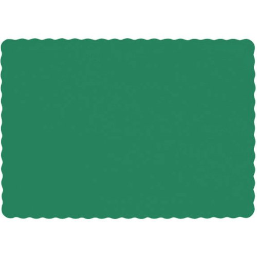 Festive Green Paper Placemats (50ct) - 1
