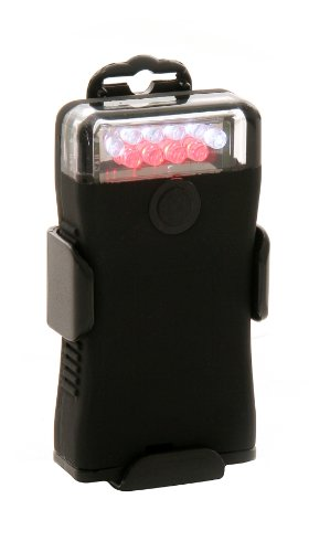 Foxfury 300-004 Scout Tasker-Safety White/Red Led Utility Light And Right Angle Flashlight With Black Case, 20.0/2.7 Lumens