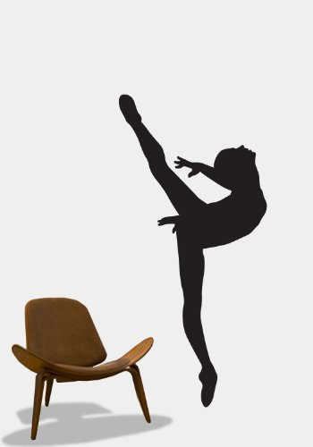 Vinyl Wall Art Decal Sticker Ballet Dancer 24x51 Ballerina Girl #208