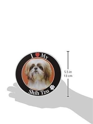 E & S Pets Car Magnet, Shih Tzu, Tan/White Puppy Cut