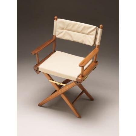 Ordinaire Ultra Marine Teak Directoru0027s Chair W/Padded Cushions (Blue)