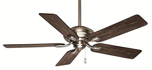 Casablanca 54038 Utopian 52-Inch 5-Blade Ceiling Fan, Brushed Nickel with Walnut/Burnt Walnut Blades (Casablanca Utopian Ceiling Fan compare prices)