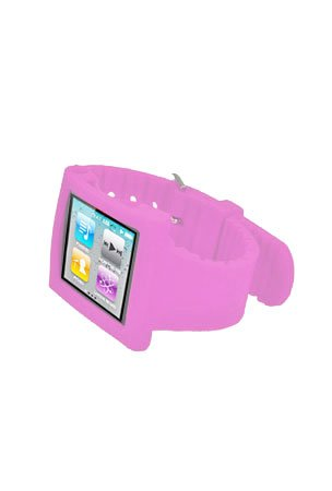 EagleC iPod Nano 6th Generation Silicone Watch Wristband Case - Baby Pink