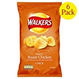 Walkers Roast Chicken Crisps 6 Pack 150g