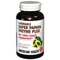 American Health Enzymes Chewable Super Papaya Enzyme Plus 180 Tablets 23604