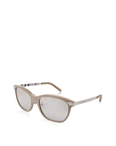 Burberry Women's BE4146 Sunglasses, Light Blue/Light Grey Mirror Grad Silver