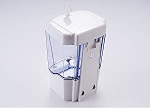 Naiver Battery Powered Automatic Wall-Mounted Sensor Soap Pump-Touchless Liquid Infrared Soap Dispenser - 600ml Ultra-Large Capacity (Color: White, Tamaño: 110*100*165)