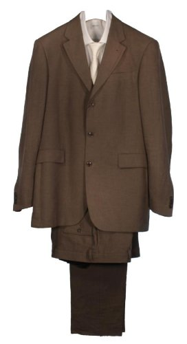 Kenzo Single Breasted 3 Button Suit - Brown