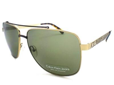 Calvin Klein Jeans Sunglasses CKJ110S 201 Gold & Brown Green