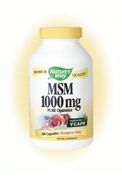 Buy MSM 200 VegiCaps 1000 mg by Nature's Way (Nature's Way, Health & Personal Care, Products, Health Care, Pain Relievers, Joint & Muscle Pain Relief, Medications)