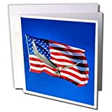 Boehm Graphics Holiday Memorial Day - American Flag and Bald Eagle - Greeting Cards-6 Greeting Cards with envelopes