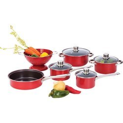 Chef's Secret® 10pc Heavy-Gauge Even-Heating Steel Cookware Set