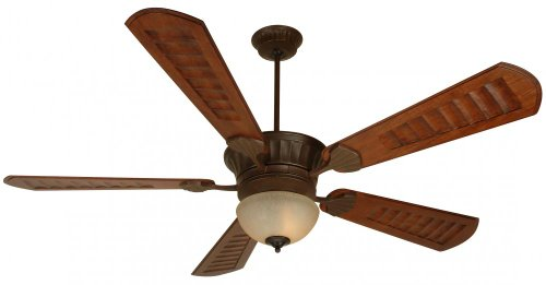 Craftmade DCEP70AG 70-Inch Direct Current Epic Ceiling Fan with B570E-DO4 Custom Dark Oak Blade Set, Aged Bronze
