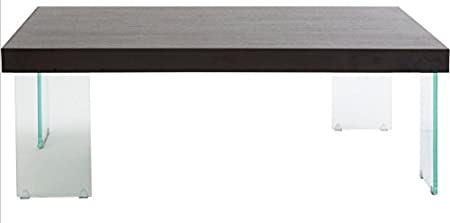 Eurostyle Cabrio 47x31 Coffee Table in Clear & Wenge