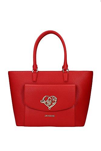 Shopper Taschen Love Moschino Damen Polyurethan Rot und Gold JC4039PP12LD0500 Rot 14x27x33 cm thumbnail