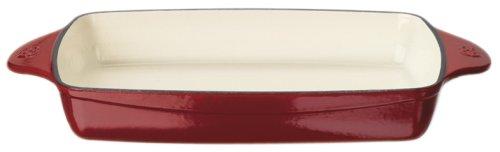 Calphalon Enamel Cast Iron Rectangular Baker, Cabernet Red