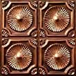 "Discounted Ceiling Tile Antique Copper #106 PVC Can Be Glue on Clean Smooth Flath Surface, Also Can Glued Over Secure Popcorn 24""x24"" with Overlaping Edges Ul Rated."