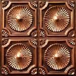 """Discounted Antique Copper Ceiling Tile PVC Can Be Glue on Clean Smooth Flath Surface, Also Can Glued Over Secure Popcorn #106 24""""x24"""" with Overlaping Edges Ul Rated."""