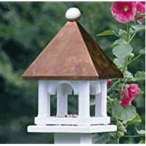 Lazy Hill Farm Designs 42524 Mini Feeder White Solid Cellular Vinyl with a Polished Copper Roof