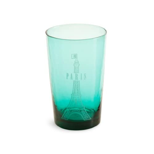 Amazon.com | Rosanna J'Adore Paris Turquoise Drinking Glass, Set of 4