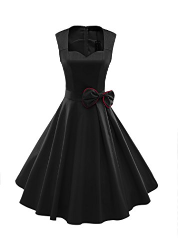 ILover-Womens-1950s-Style-Vintage-Rockabilly-Swing-Bow-knot-Party-Dress