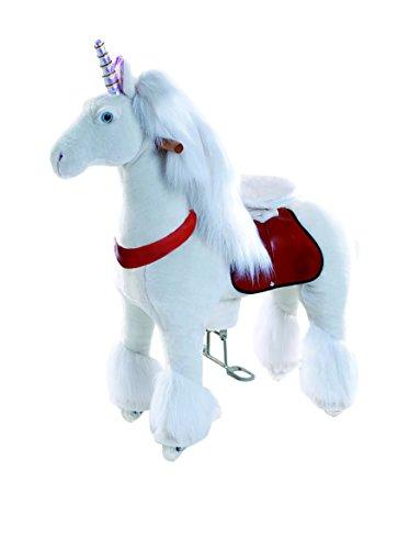 PonyCycle Medium Unicorn, White