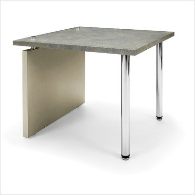 Profile End Table Finish/Base: Painted Screen/Silver