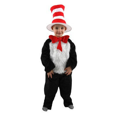 Dr. Seuss Cat In The Hat Costume Size: 8-10 Years