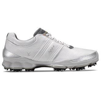Ecco 2012 Men's Biom Golf Shoes - White/Concrete