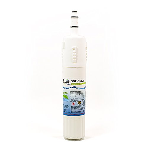 Samsung replacement water filter ALL RM255 SERIES REFRIGERA, RM255LASH, DA29-00012A 100% recyclable, and made in U.S.A. and Canada SGF-DSA21