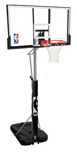 Spalding 72307PR Portable Basketball System with 52-Inch Acrylic Backboard
