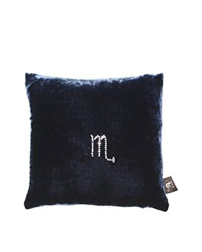 Aviva Stanoff Velvet Scorpio Pillow, Blue