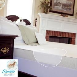 slumber solutions 4inch memory foam mattress topper with waterproof cover size twin - Slumber Solutions