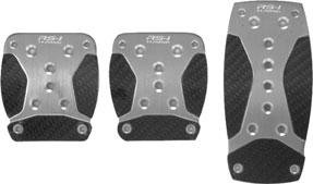 3 PC. ANODIZED NICKEL PEDAL W/ BLACK CARBON FIBER