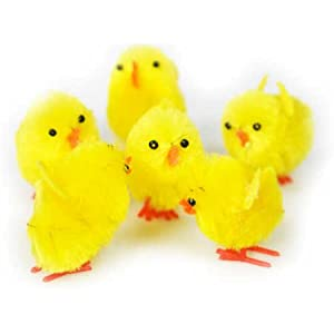"4 Packages of 6-1-1/4"" Chenille Easter Chicks - 24 Total Chicks"