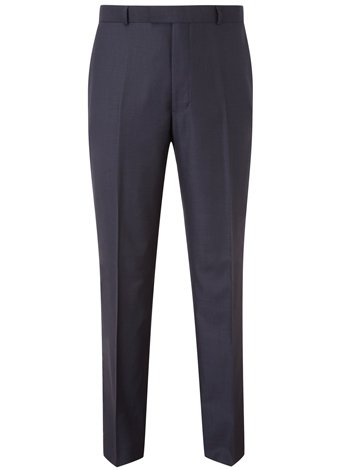 Austin Reed Contemporary Fit Navy Semi Plain Trouser REGULAR MENS 38